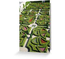 The  love garden, Chateau Villandry, Loire Valley Greeting Card