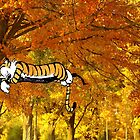 Calvin & Hobbes Sleeping On The Tree by enrigabbiadini