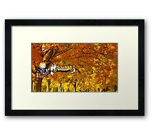Calvin & Hobbes Sleeping On The Tree Framed Print