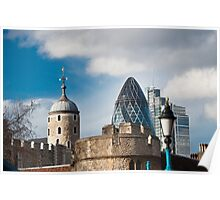 The Tower of London & Gherkin: City Views Poster