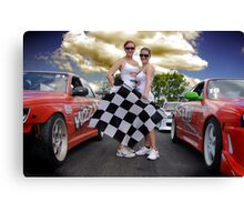 Oh Yes The Checkered Flag Canvas Print