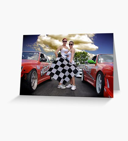 Oh Yes The Checkered Flag Greeting Card