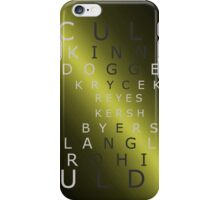 x-files - The Characters - Gold iPhone Case/Skin