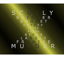 x-files - The Characters - Gold Photographic Print