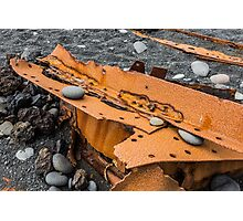 Iceland, ship wreck Photographic Print