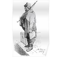 Theodor Kittelsen Unknown bearded man with rifle and bag Poster