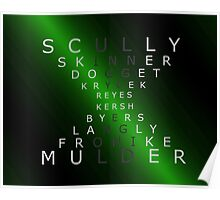 x-files - The Characters - Green Poster