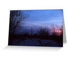 Winter Landscape Twilight Greeting Card
