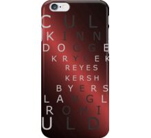 x-files - The Characters - Red iPhone Case/Skin