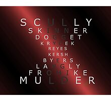 x-files - The Characters - Red Photographic Print