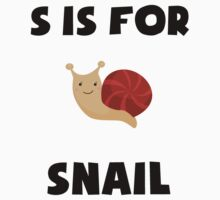S Is For Snail Kids Clothes