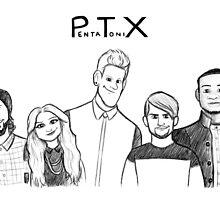 Pentatonix Drawing by APParky