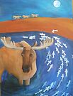 Moose and Fishes by Kay Hale