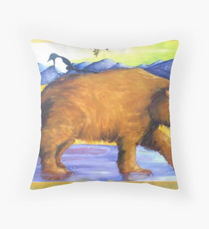 Giant Jesus Bear Throw Pillow