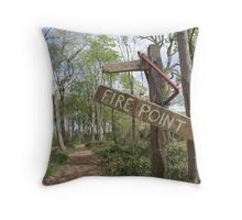 Fire Point Throw Pillow