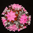 Pink Grey Brown Kusudama by CranBerryOcean