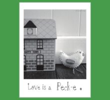 'Love is a Peck-e' second sister Kids Tee
