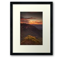 Bush Blessing - Jamison Valley, Blue Mountains World Heritage  Area - The HDR Experience Framed Print