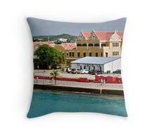 On the Pier at Kralendijk, Bonaire Throw Pillow
