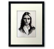 Cara, charcoal sketch Framed Print