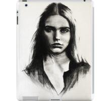 Cara, charcoal sketch iPad Case/Skin