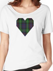 00539 Black Watch Plaid of Pipers Military Tartan  Women's Relaxed Fit T-Shirt
