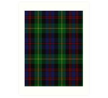 00539 Black Watch Plaid of Pipers Military Tartan  Art Print