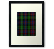 00539 Black Watch Plaid of Pipers Military Tartan  Framed Print