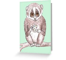 Slow down Loris! Greeting Card