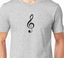 Black Treble Clef Design Duvet Cover Musician Quilt Unisex T-Shirt