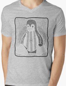 Tux (Monochrome) Mens V-Neck T-Shirt
