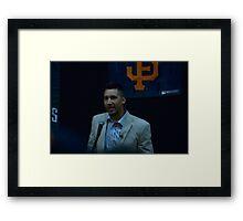 Travis Ishikawa @ JCCCNC  Framed Print