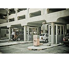 Parking's different in Kuwait Photographic Print
