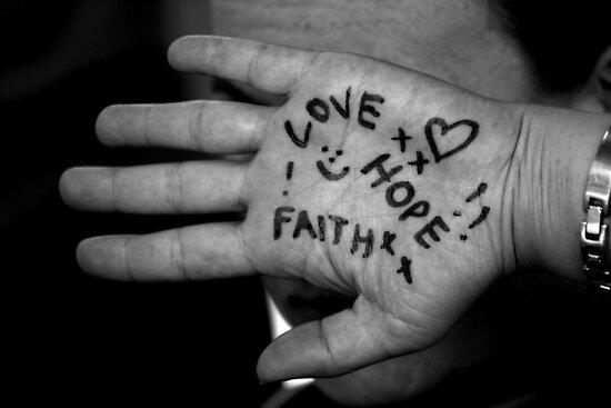 Faith, Hope, Love by elizegrundlingh