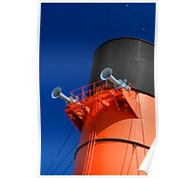 Front Smokestack of the Queen Mary (Long Beach, California) Poster