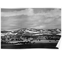 Beautiful Mountains Black and white Poster