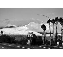 Snow Covered Mountains California Photographic Print