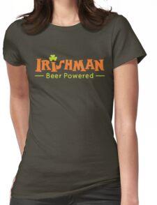 Beer Powered Irish Man Womens Fitted T-Shirt