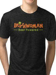 Beer Powered Irish Woman Tri-blend T-Shirt