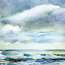 Watercolor - Cloudy by Marlies Odehnal