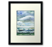 Watercolor - Cloudy Framed Print