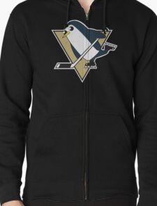 Pittsburgh Penguins x Gunther Mashup - Gunther Playing Hockey Logo Mixup T-Shirt
