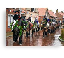 The parade begins.... Canvas Print