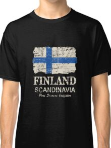 Finland Flag - Vintage Look Classic T-Shirt