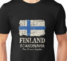 Finland Flag - Vintage Look Unisex T-Shirt