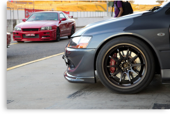 Evo IX and R34 GT by GoldZilla