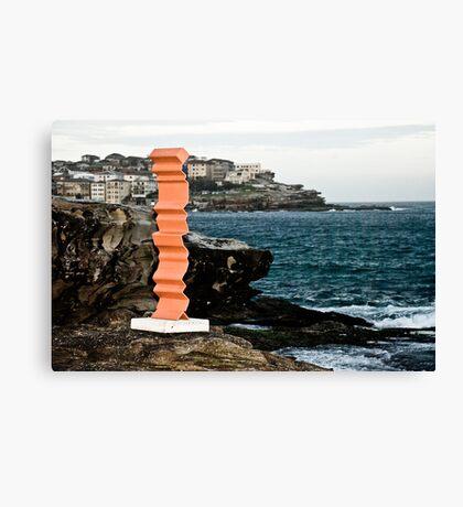 Orange Sculpture Canvas Print