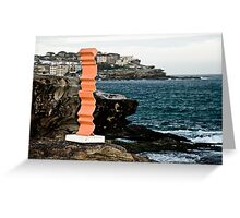 Orange Sculpture Greeting Card