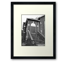 First In, Last Out - Mars Hill, N.C. Framed Print