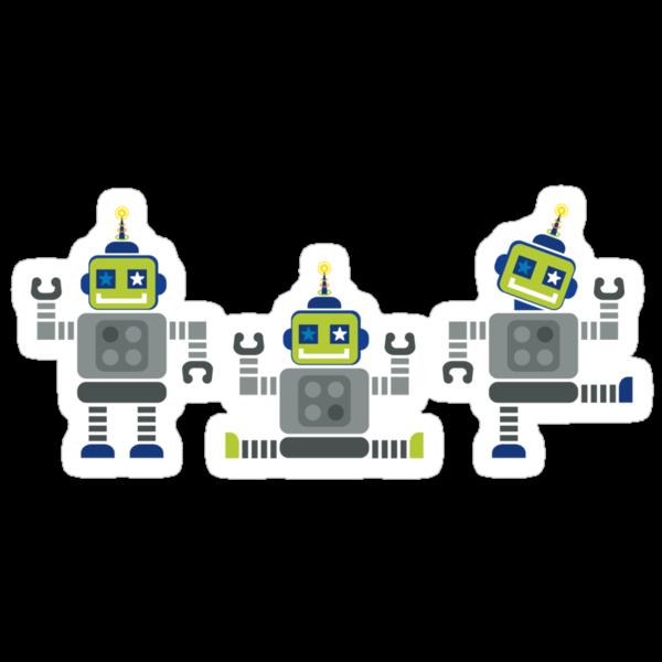 ROBOT x 3 by Kat Massard